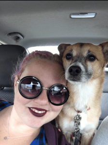 Pet sitter Jess in car with dog